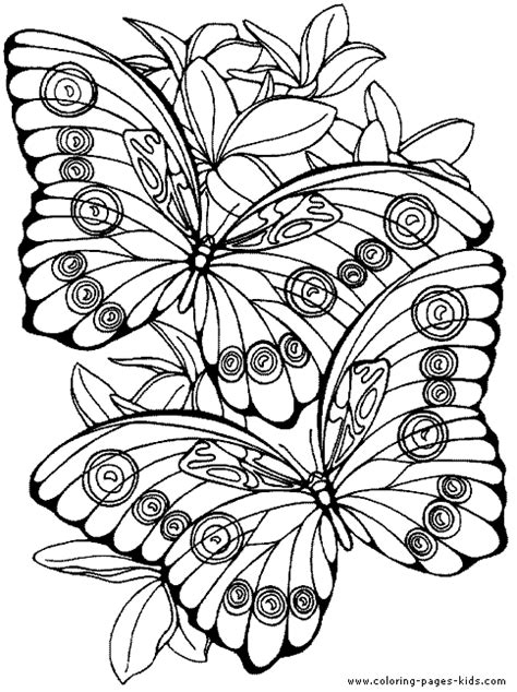 free printable coloring pages flowers and butterflies two butterflies with flowers color page free printable