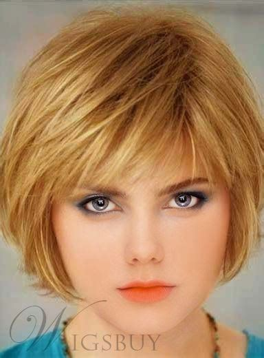 lovely short straight bob hairstyle capless synthetic wig