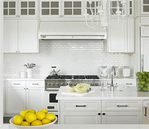 White Kitchen Tile Backsplash Ideas Mini White Subway Tile Backsplash White Shaker Kitchen Cabinets Marble Countertops Kitchen