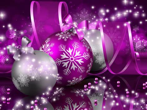 merry christmas purple decorations  wallpaper