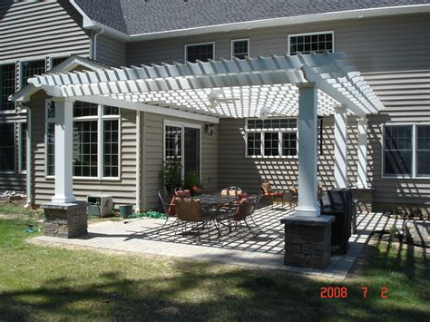 Pergola Plans Attached To House Smalltowndjs Com Attaching Pergola To House