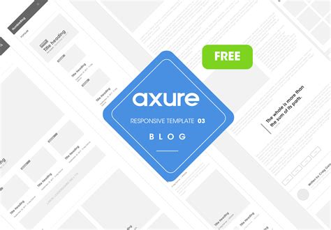 axure responsive template blog website 3