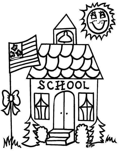 School Clipart Outline by School Books Clip Line Drawing Clipart Best