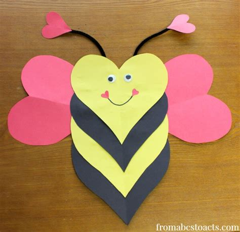 valentines projects for toddlers bee mine craft for from abcs to acts