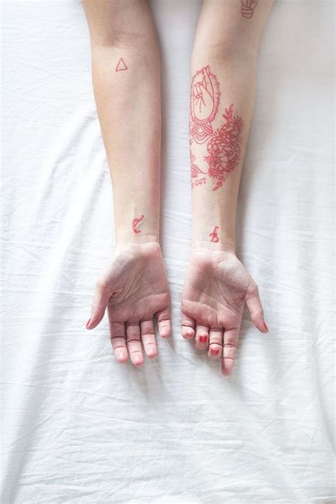 pink ink tattoo best 25 tattoos ideas on black