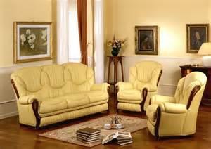 italian sofa set daniela leather classic sofa set made in italy