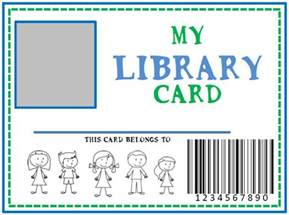 Free Library Card Template Family Library Amp Diy Pretend Library Card She Kristina