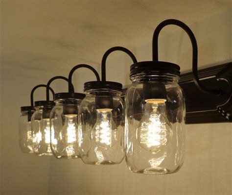 jar bathroom light fixture 25 best rustic bathroom vanities ideas on