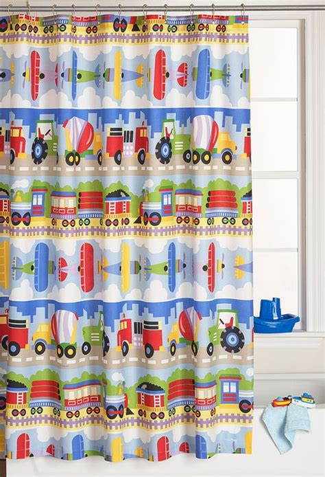 train shower curtain trains planes and trucks shower curtain home office
