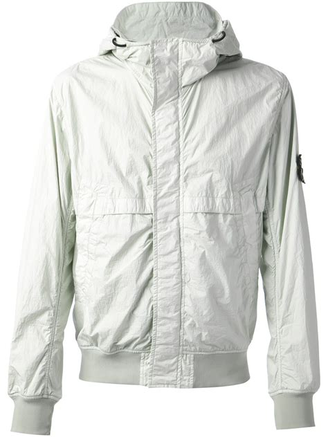 white gray gili timur outerwear island hooded windbreaker jacket in white for lyst
