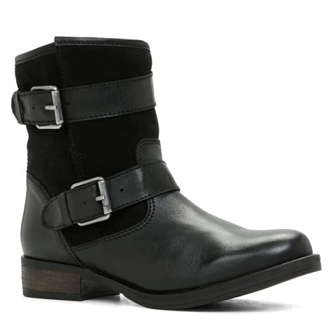 aldo abasa pull on ankle boots in black black suede