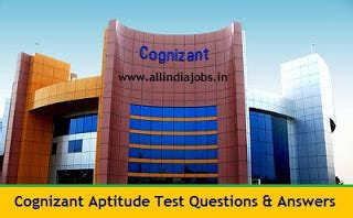 Aptitude Test For Mba Placements by Cognizant Aptitude Test Questions And Answers Freshers