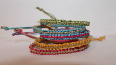 two colored square knot friendship bracelet