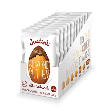 Kacang Almond Butter Small Box justin s chocolate almond butter squeeze packs