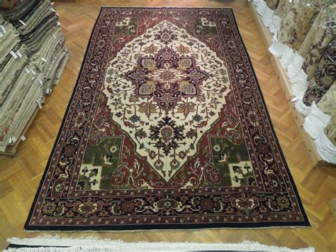 12x18 area rug large 12x18 knotted heriz rug wool on cotton carpet ebay