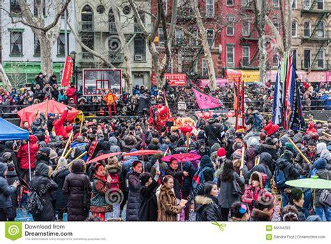 new year firecracker ceremony nyc 2015 firecracker ceremony chinatown new york city editorial