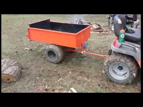 dump cart with slide axle