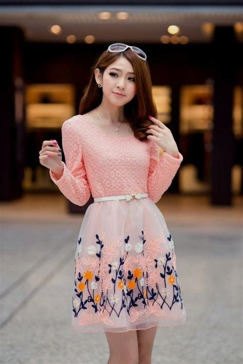 Dress Korea Pink By Griyaaglie korean dresses pink naf dresses