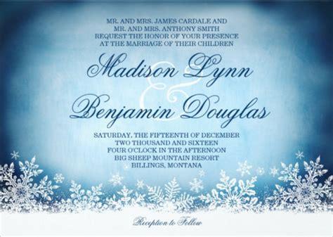 Free Template Invitation Card Snowflakes by 15 Winter Wedding Invitation Templates Free Sle