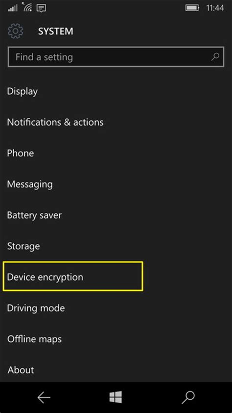 mobile device encryption how to enable device encryption on a phone with windows 10