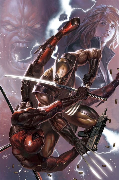 deadpool in wolverine wolverine vs deadpool by in hyuk comics