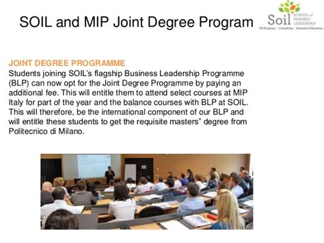 Joint Mba Programs Canada by About Soil One Year Mba College