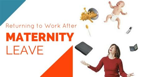work after maternity leave