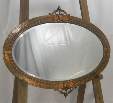 copper wall mirror uk oval copper framed hanging wall mirror 89386