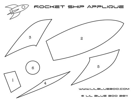 rocket template rocket ship applique tutorial and template