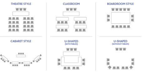 seminar seating layout bookings