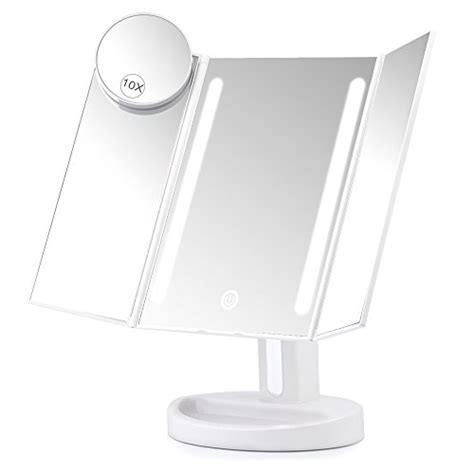 top 10 best magnifying mirrors illuminated with light herwiss lighted vanity makeup mirror with 10x magnifying