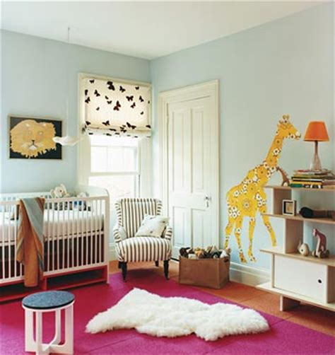 blue walls paint color white modern crib ikea pelt pink rug and wall murals