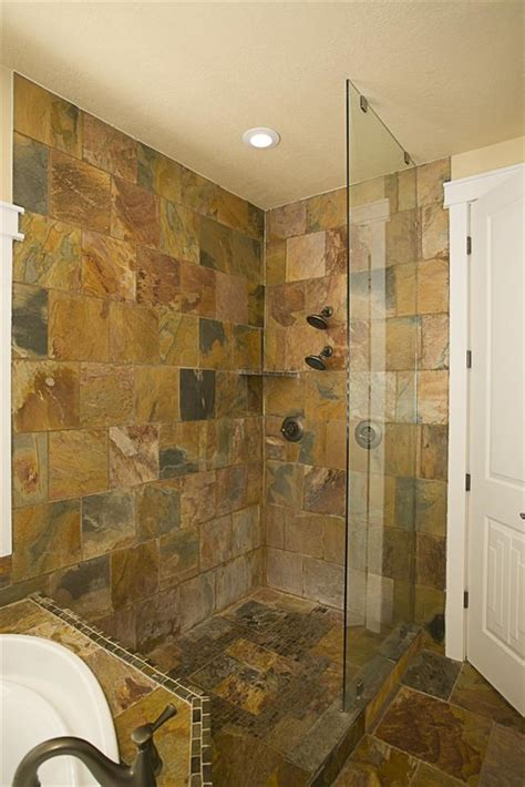 Tiles For Bathroom Showers Slate Tile Bathroom Bathroom Ideas
