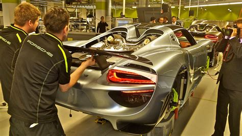 porsche factory porsche 918 spyder factory tour youtube