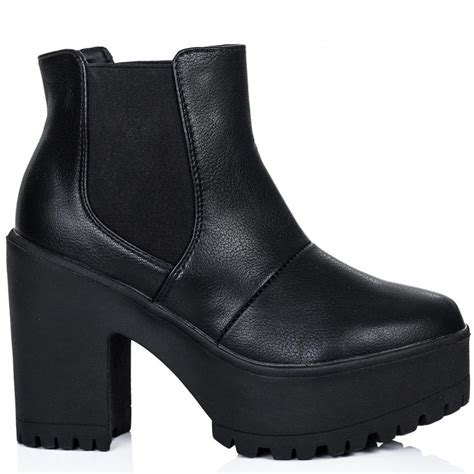 buy varcity cleated sole chelsea ankle boots black leather