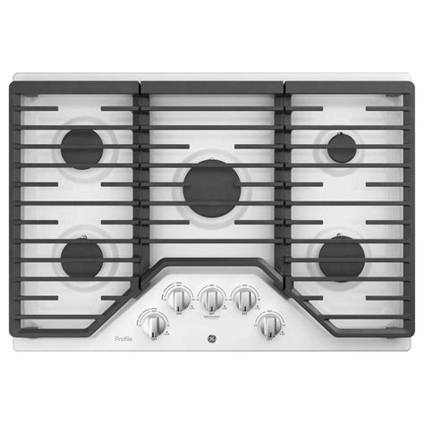 ge profile gas cooktop ge profile 30 in 5 burner white gas cooktop common 30 in