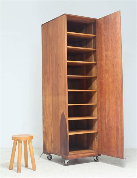 storage cupboard on wheels arden riddle high cupboard on wheels for sale at 1stdibs
