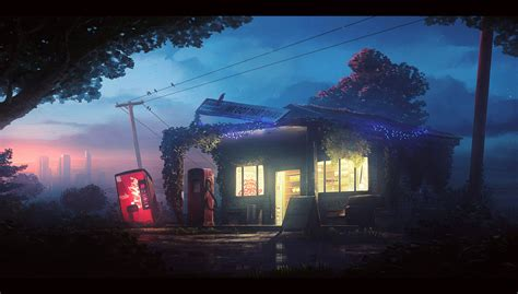 old gas station by unidcolor on deviantart