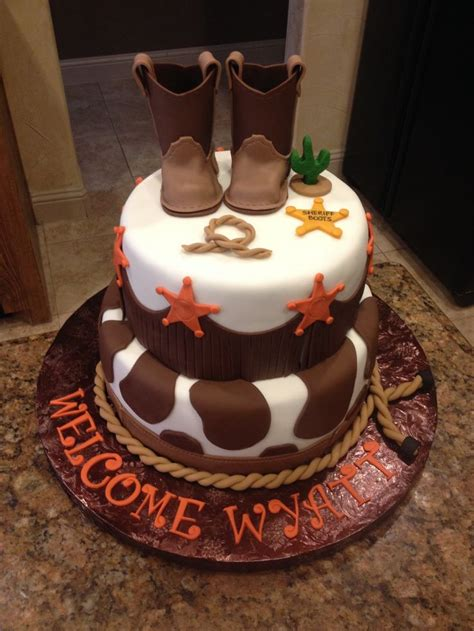 cowboy themed baby shower decorations 45 best cowboy baby shower cake images on baby