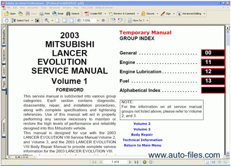 online auto repair manual 2011 mitsubishi lancer evolution on board diagnostic system mitsubishi lancer evolution 2003 repair manuals download wiring diagram electronic parts