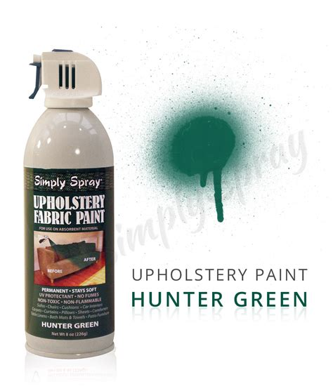 spray fabric dye upholstery hunter green fabric dye spray paint quick easy effective