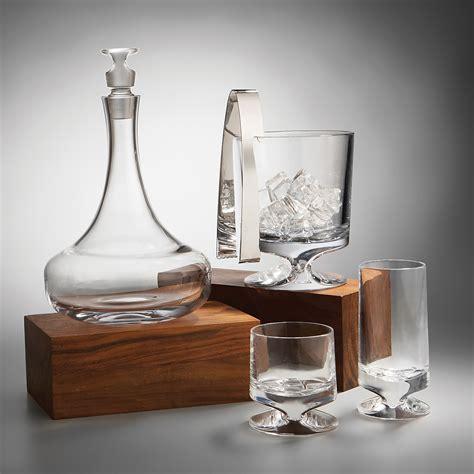 nambe barware namb 233 crystal quot groove quot barware bloomingdale s