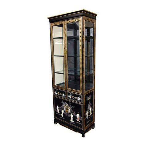 Black Lacquer China Cabinet by Shop Furniture Lacquer Black Lacquer Rectangular