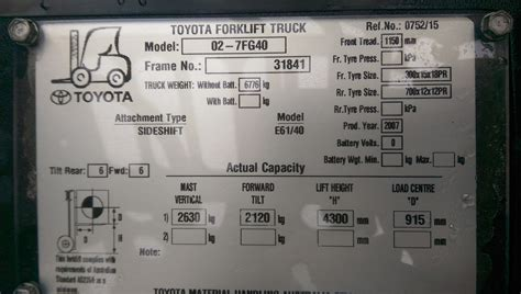 toyota number toyota forklift model number location toyota get free