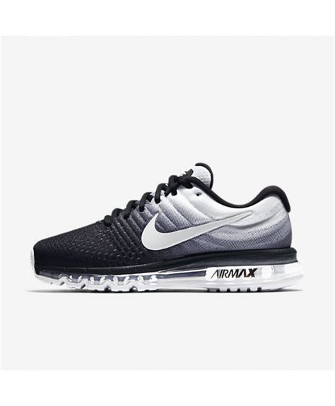 nike air max 2017 black white mens shoes uk sale