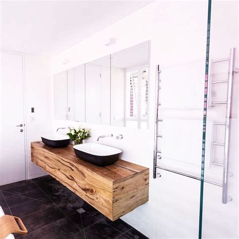 Timber Vanity Units by The Judges Loved Our Custom Floating Timber Vanity Unit In