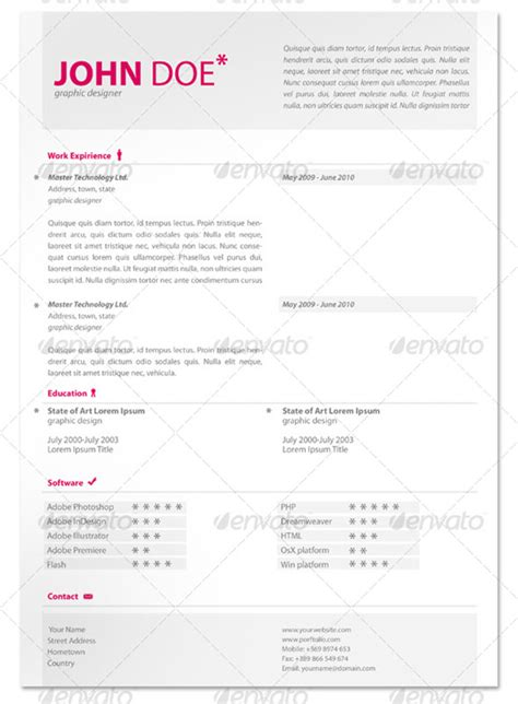 stand out resume templates free 28 creative cheap resume templates