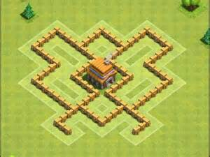 Clash of clans the best town hall 5 th5 trophy war base design