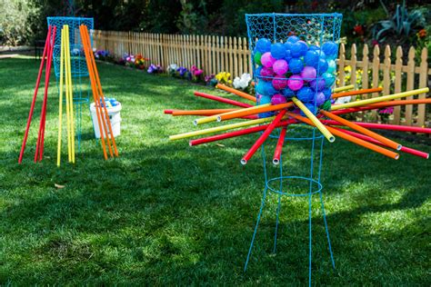big backyard games diy life size kerplunk game home family hallmark channel