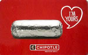 Chipotle Uk Gift Card - chipotle gift card quot valentines day quot collectible no value